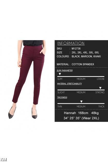 Plus Size Stretchable Pants [M12736]