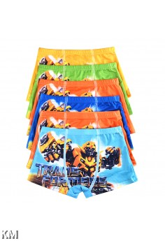 Transformer Cartoon Underwear 6pcs Per Pack