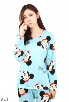 Women Cartoon Printed Pjamas Sleepwear [M1019]