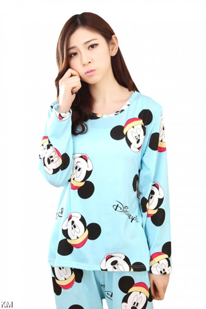 Women Cartoon Printed Pjamas Sleepwear [M14953]