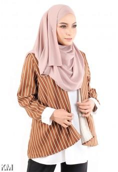KM Muslimah Modern Striped Blouse [M15464]