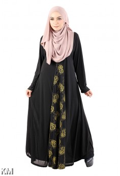 Lace Up Flare Jubah [M14527]