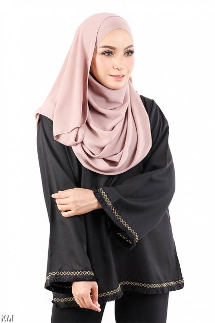 Muslimah Lively Solid Blouse [M15465]