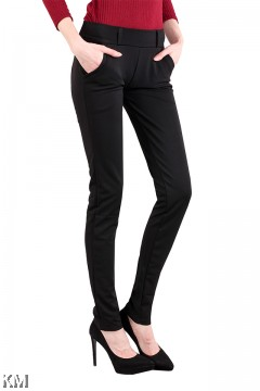 Plus Size Women Elastic Black Pants [M13320]