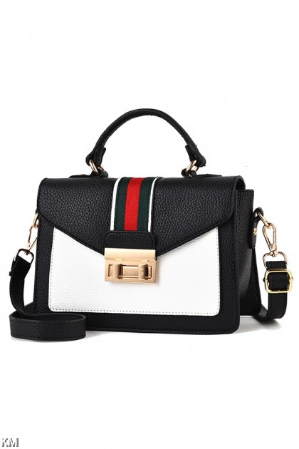 Color Block Women Sling Bag With Top Handle [M1606]