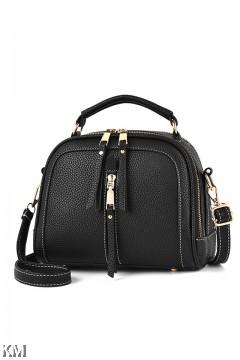 Bold Zippers Women Daily Handbag [M1607]