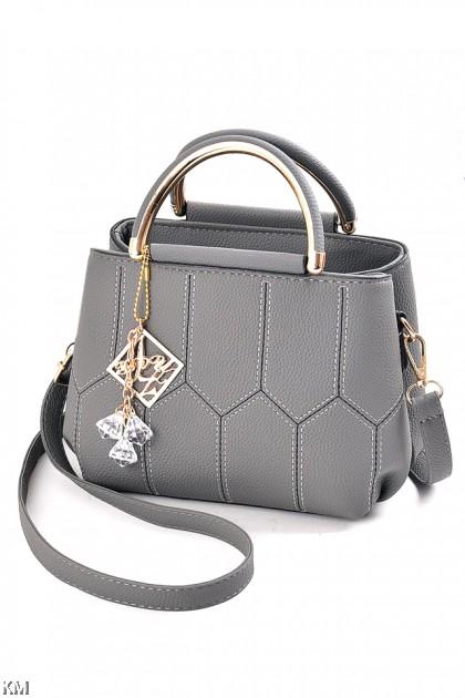 Metallic Top Handle Luxury Handbag [M1903]