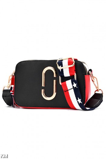 Small Trendy Double Zip Casual Sling Bag [M1910]