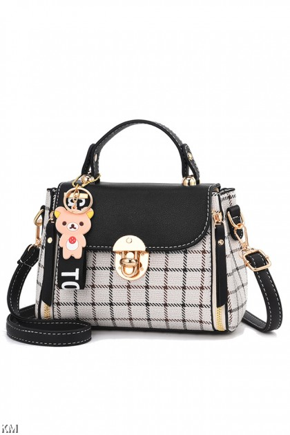 97a7d5870 Rila Bear Checkered Luxury Handbag [M1914] ...