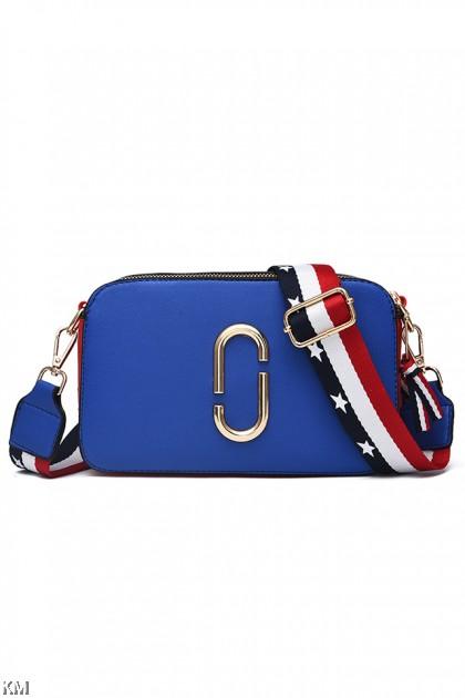 Medium Trendy Double Zip Casual Sling Bag [M1920]