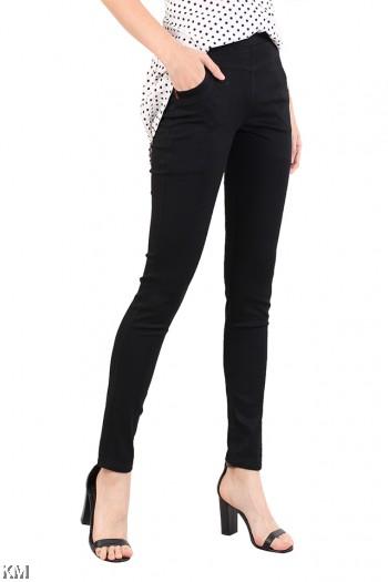 Women Big Size Black Pants [M10966]