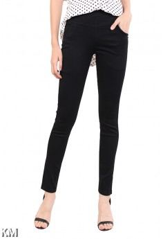 Women Big Size Black Pants [M10966]