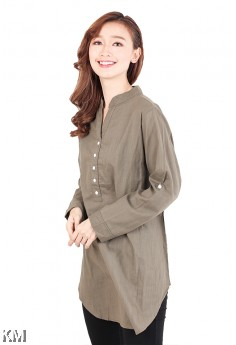 Kurti Collar Plus Size Blouse [M2561]
