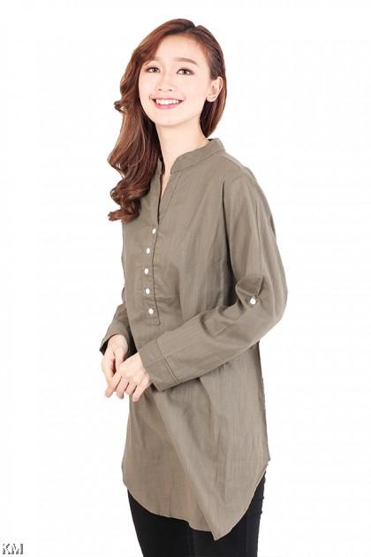 Kurti Collar Plus Size Blouse [M2561]