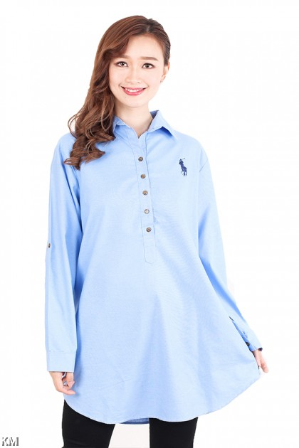 Polo Plus Size Button Embellished [M2565]