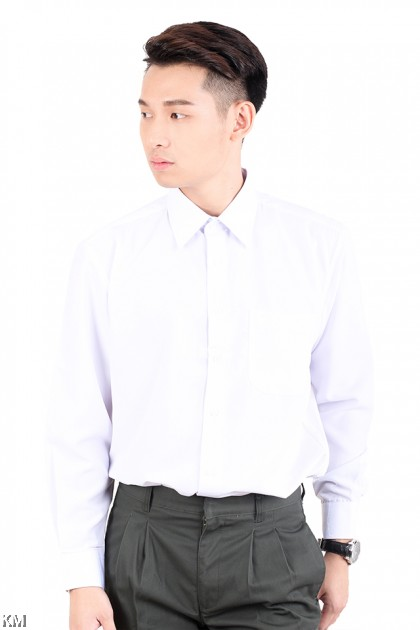 KM Secondary School Long Sleeves Uniform Shirt [M22876]