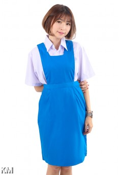 Secondary School Blue Pinafore Dress [M18077]