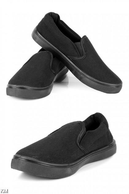 Black Slip On School Shoe [M16034]