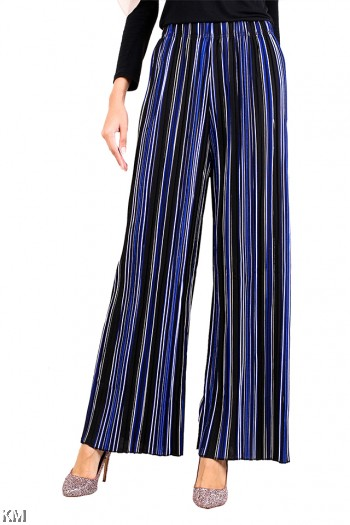 Multicolored Stripes Wide Palazzo [M13972]