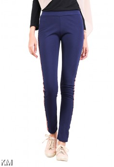 Women Slim Fit Elastic Pants [M13969]