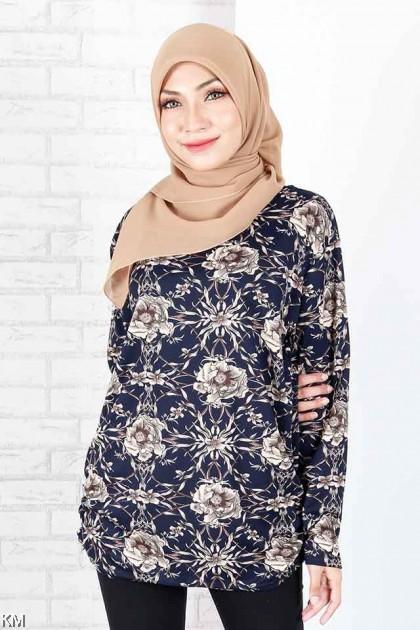 KM Muslimah Casual Fully Printed Top [B15795]