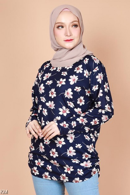 KM Muslimah Casual Fully Printed Top [B15795]