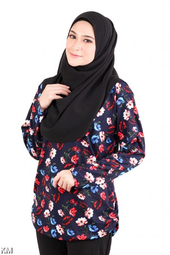 Muslimah Casual Fully Printed Top [M15795]