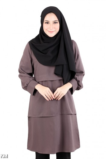 Muslimah Tri Layered Solid Top [M20570]