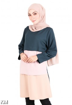 Muslimah Tri Tone Layered Top [M20577]