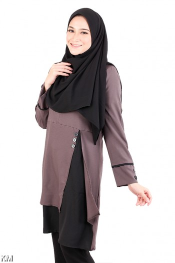 Muslimah Open Layered Top [M20579]