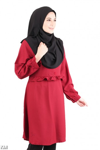 Lively Solid Long Blouse [M20585]