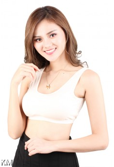 Seamless Lightly Padded Sports Bra [M14911]