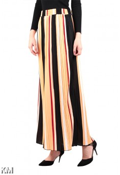 A Line Multicolor Maxi Skirt [M16334]
