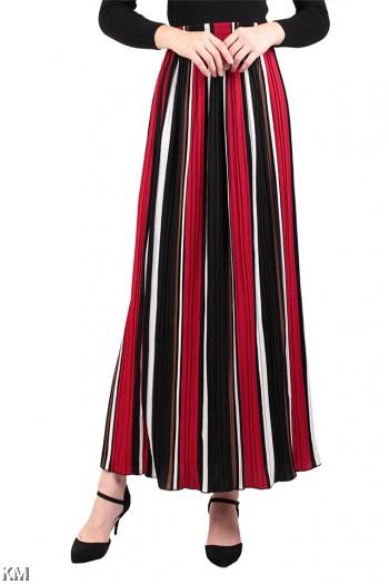 A Line Multicolor Maxi Skirt [M16334]