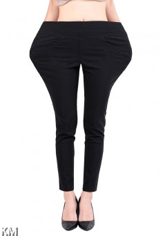 Upgraded Plus Size Elastic Pants [17114]