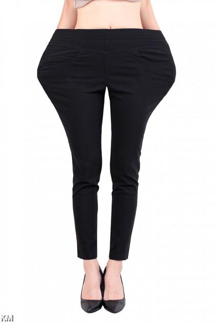 Upgraded Plus Size Elastic Pants [M17114]