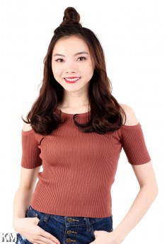 Knitted Solid Cold Shoulder [M16354]