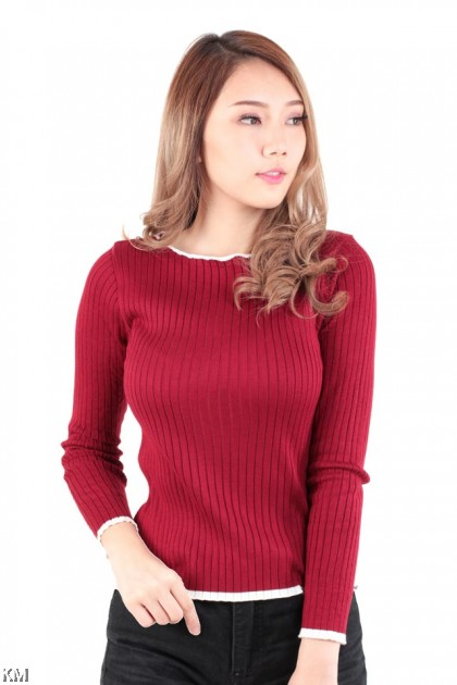 Lace Knitted Long Sleeves [M16362]