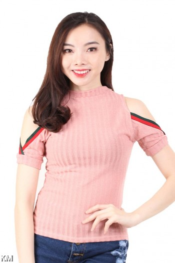 Two Stripe Kintted Top [M16386]