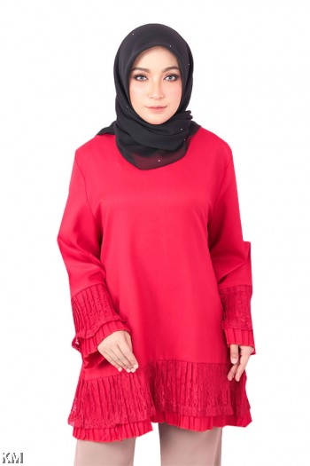 Lace Frill Muslimah Top [M17531]