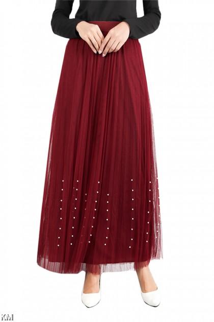 Voguish Maxi Flared Skirt [S18509]