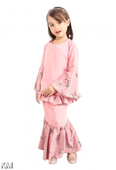 Kids Elizza Puff Kurung Set [K1258]
