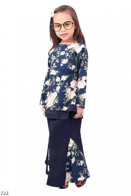 Kids Aatiya Floral Kurung Set [K1259]