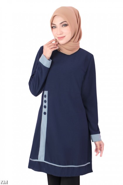 Kieara Long Tunic Blouse [B18507]