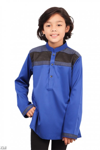 Kids Afiq Executive Button Kurta [B19759]