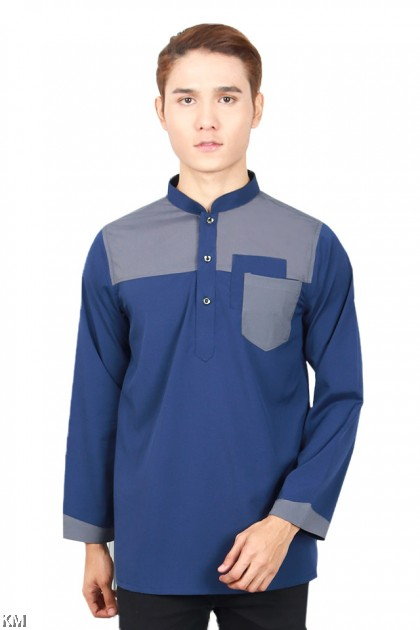 Men Hazzan Pocketed Button Kurta [M19653]