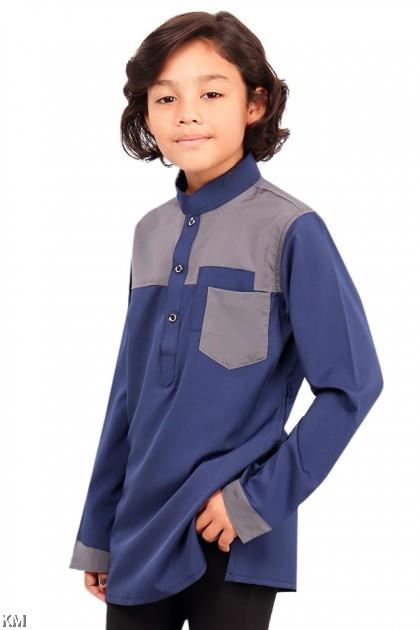 Kids Hazzan Pocketed Button Kurta [B19661]