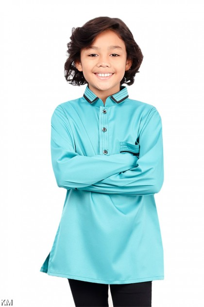 Kids Khairul Smart Collar Kurta [B19767]
