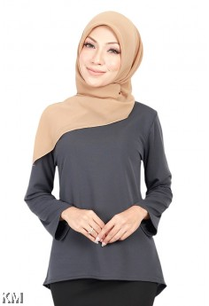 Classic A Line High Low Solid Blouse [B19310]
