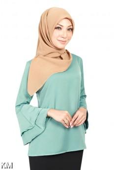 Muslimah Dreamy Frill Sleeve Blouse [B18673]